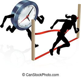 Running Against the Clock Stress Concept