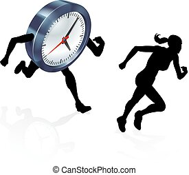 Running Against the Clock Stress Pressure Concept