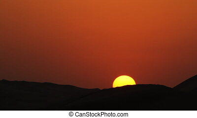 running along edge in sunset wider.mov