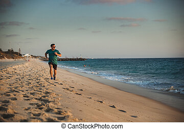 Running Along the Beach Front