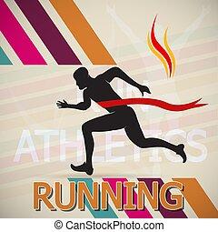 Running and Marathon Logo Vector