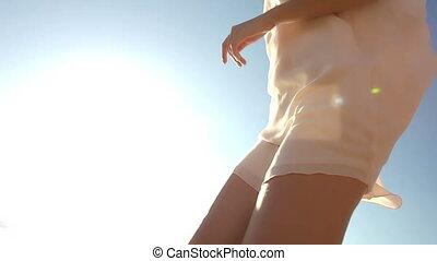 Running At Seashore