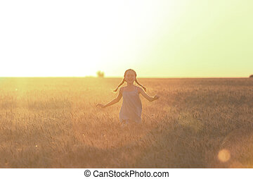 running at the field