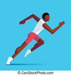 Running athlete illustration
