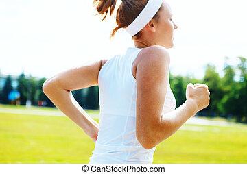 Running athlete woman running.