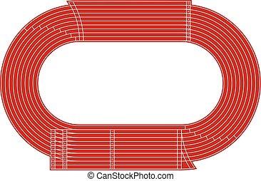 Running athletics stadium vector track