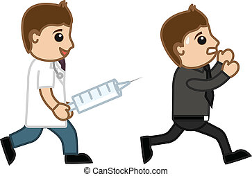 Running Away from Syringe Injection