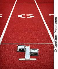 Running blocks at the starting line