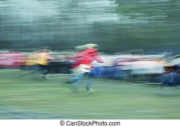 Running blur