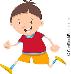 running boy cartoon character