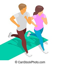 running boy girl