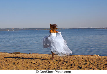 Running bride