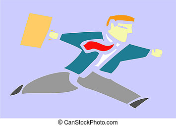 Running Businessman - Simple image of a running business...