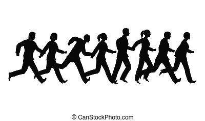running businessteam