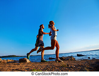 Running by the seaside