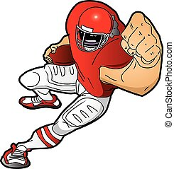 Running Cartoon Football Player