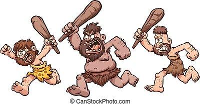 Running cavemen