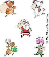 Running Christmas Characters