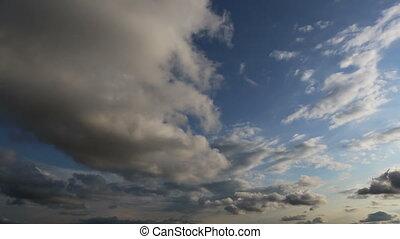 running clouds background