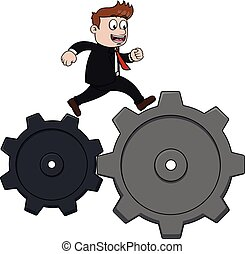Running cog business man