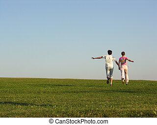 running couple