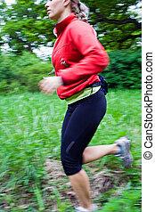 Running cross country
