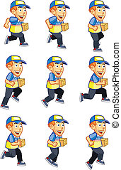 Running Delivery Boy Sprite for Game