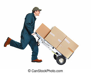 Running Delivery postman. - Running delivery postman with...