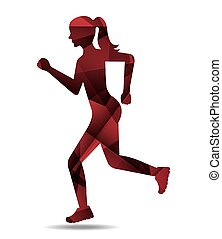 Running design. - Running design over white background,...
