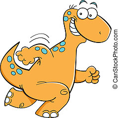 Running dinosaur