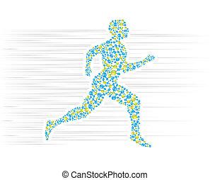 Running - DNA, body, human, medical, molecule, science, man...