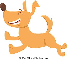 running dog or puppy cartoon character