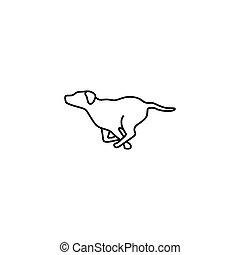 running dog vector illustration