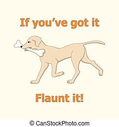 Running dog with bone