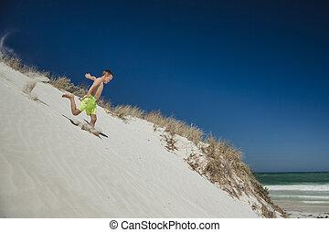 Running Down a Sand Dune