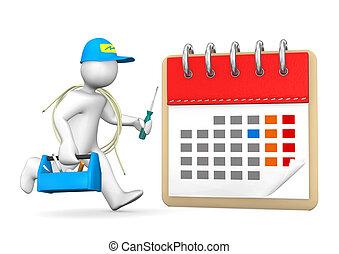 Running Electrician Calendar