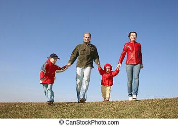 running family of four