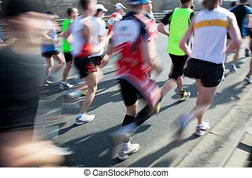 Running fast, marathon