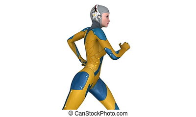 running female android