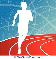 Running fitness man sprinting