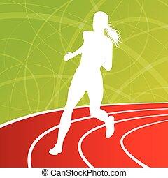 Running fitness women sprinting