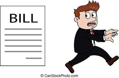 Running from bill