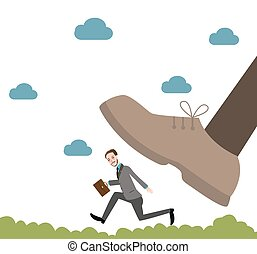 running from giant unfair competition business big vs small