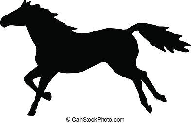Running Horse -  clip-art