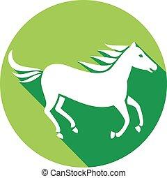 running horse flat icon
