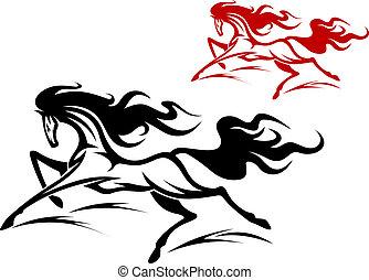 Running horse tattoo