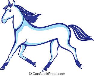 Running horse - Illustration running horse insulated on...