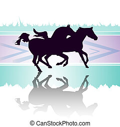 Running horses - Horses in race