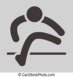 Running hurdles icon - Summer sports icons - running hurdles...