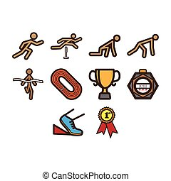 Running icon set